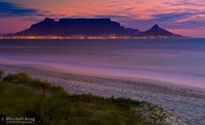 Vista da Cidade do Cabo e sua imponente Table Mountain.