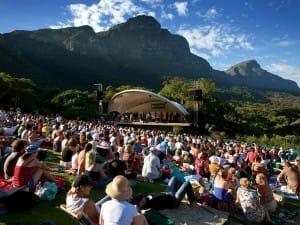 Jardim Botânico Kirstenbosch e seus concertos de verão.